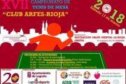 "XVII CAMPEONATO DE TENIS DE MESA ""CLUB ARFES – RIOJA"" - LOGROÑO, CIUDAD SIN ESTIGMA"